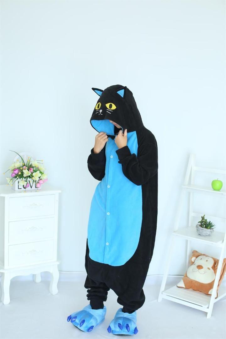 7ad912161425 Midnight Cat Onesies Black Cat Pajamas For Unisex Adult Pajamas Cosplay  Costume Animal Onesie Sleepwear Jumpsuit Cosplay Female Costumes Custom  Cosplay ...