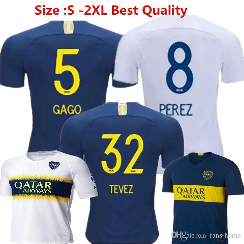 d1e36e454 2019 BOCA Soccer Jersey Carlos Tevez Morbi Jersey Camisas De Futebol  Riquelme Gago Fotball Shirts Carlitos Argentina Boca Juniors Maillot ROMAN  From Fans ...