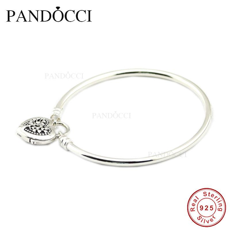 cfb064f10 2019 Limited Edition Flourishing Heart Padlock Bangle 925 Sterling Silver  DIY Beads Fit Charm Exotic Bracelets For Women From Buafy, $53.36 |  DHgate.Com