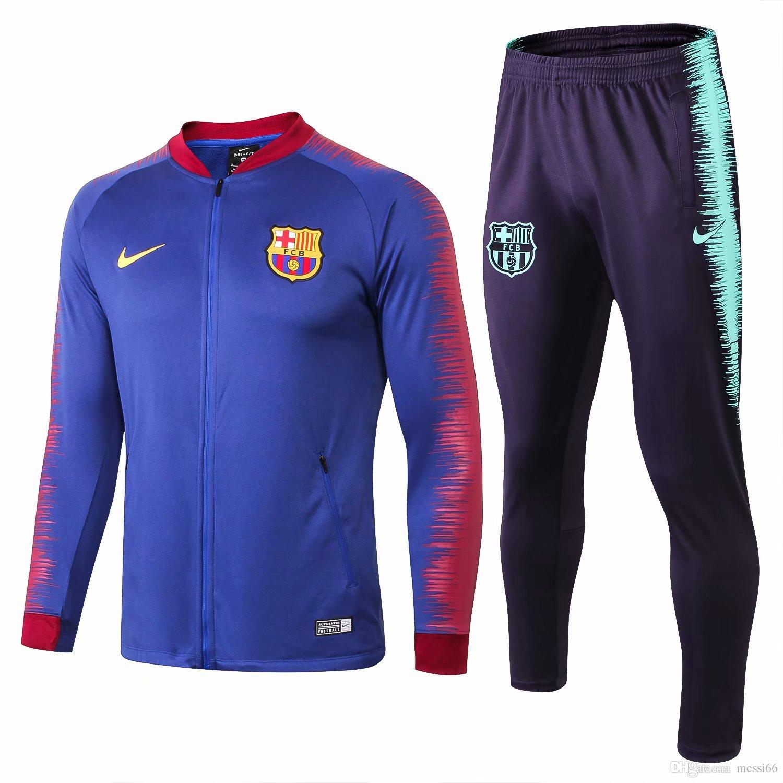eda1ac2a16a new 18 19 Season Barcelona Printed Sleeve Jacket SUAREZ O.DEMBELE ...