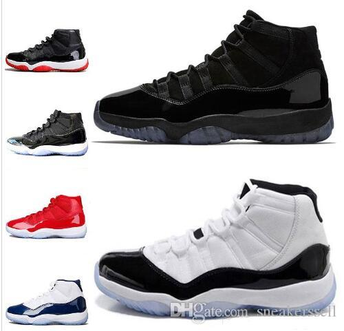 7dfbe3dd59c8 Cheap 11 11s Prom Night Concord Men Basketball Shoes Gym Red Chicago WIN  LIKE 82 96 Space Jam Bred Gamma Blue Sports Sneakers