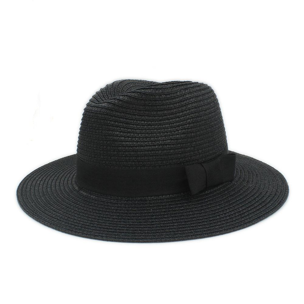 30eafdc8a9b1 Classic Summer Women Toquilla Straw Sun Hat For Elegant Lady Wide Brim Panama  Hat For Female Sunbonnet Beach Cap With Bowknot Men Hats Baby Sun Hat From  ...
