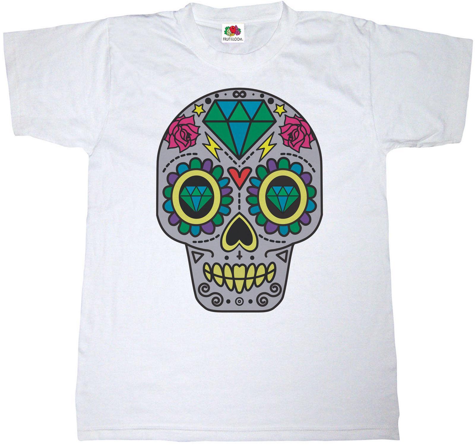 bf7cf547 SUGAR SKULL T SHIRT 100% COTTON CANDY MEXICO MEXICAN SKELETON HEART T SHIRT  FUN Ot Shirts Best Designer T Shirts From Beidhgate07, $11.01| DHgate.Com