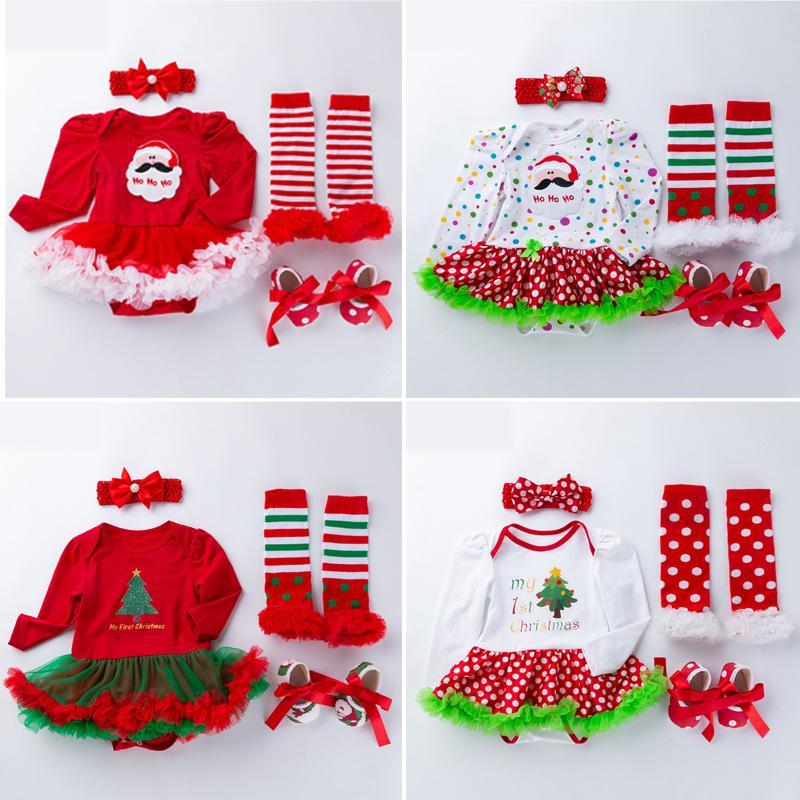 Großhandel Weihnachten Baby Kleider Buchstaben Schneeflocken Santa ...