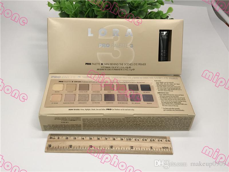Melhor preço LORA PRO Paleta 3 shimmer matte 16 Cores paleta de sombra mini nos bastidores olho Primer ePacket Frete Grátis