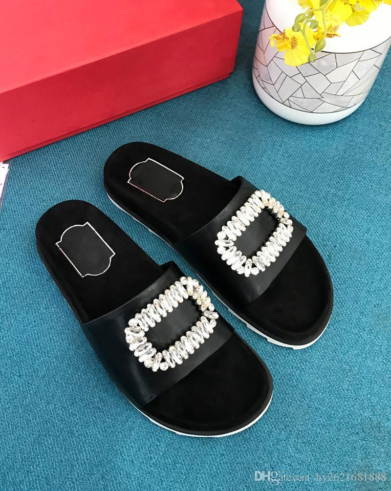 2018 kadın ayakkabı yeni terlik moda rahat rahat vahşi DHL ücretsiz kargo