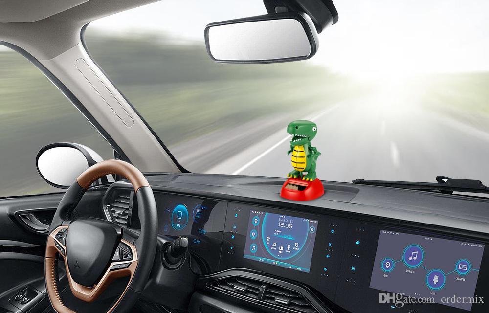 Araba Süsler ABS Dinozor Güneş Enerjili Sallanan Sallayarak Kafa Dashboard Dekorasyon Otomobil İç Dekor Aksesuarları Oyuncaklar