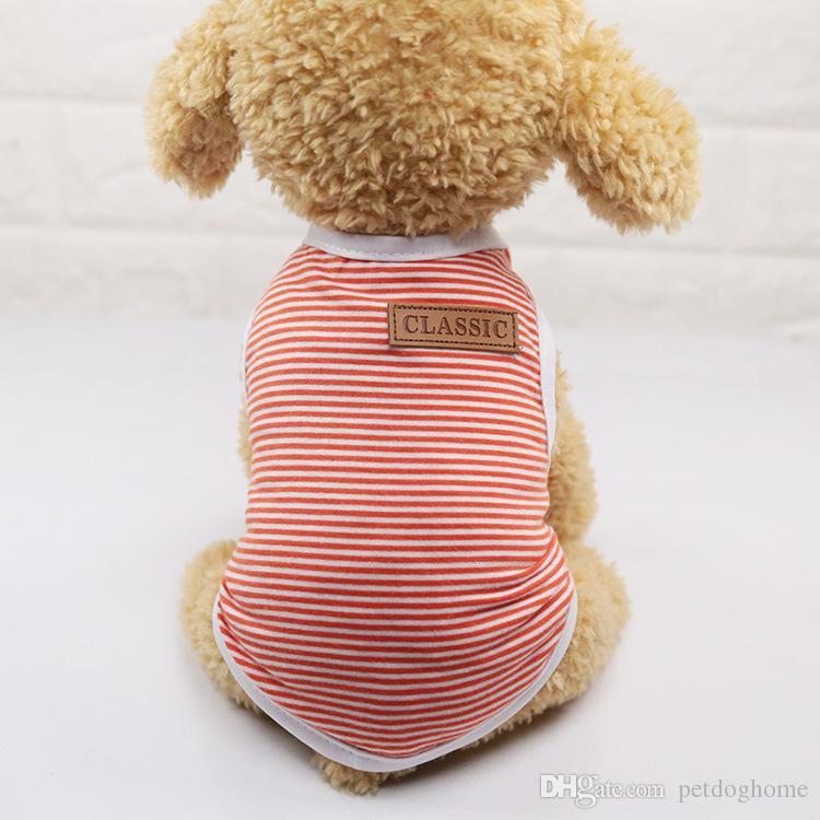 Sommer Hund Weste Baumwolle T Shirt Welpen Hund Kleidung Chihuahua Shih Tzu Yorkshire Terrier Yorkie Bichon Kleidung Haustier Kleidung Shirt