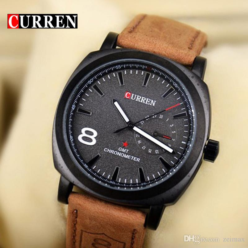 873358f726fc Original Curren Business Quartz Watch Men Clock Military Army Casual Wrist  Watch Leather Fashion Quality Male Relojes Hombre Wrist Watchs Best Watches  In ...