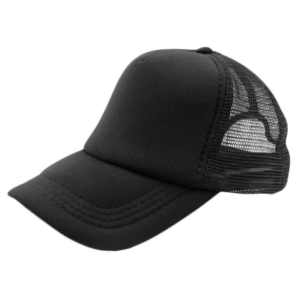 3b7f5b54417 Summer Plain Trucker Mesh Hat Snapback Blank Baseball Cap Adjustable ...