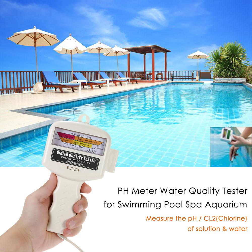 PH метр тестер качества воды PH CL2 хлор тестер уровня метр детектор воды для бассейна спа Аквариум