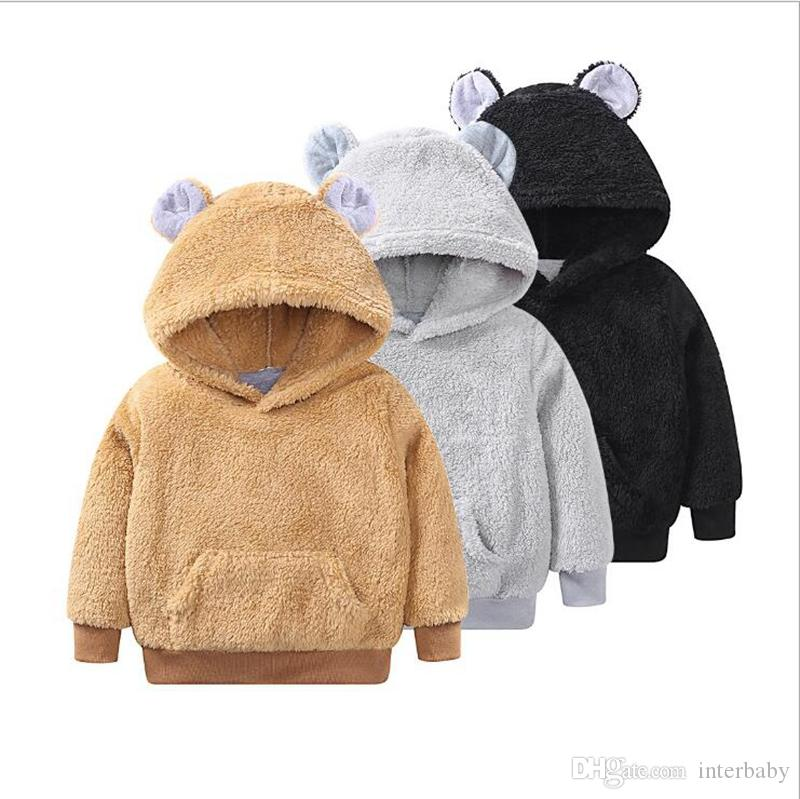 2019 Kids Hooded Hoodies Girls Long Sleeve Pullover Leisure Jumper Tops  Baby Designer Outwear Sweatshirts Children Pure Color Clothing YL786 From  Interbaby 537a2075f