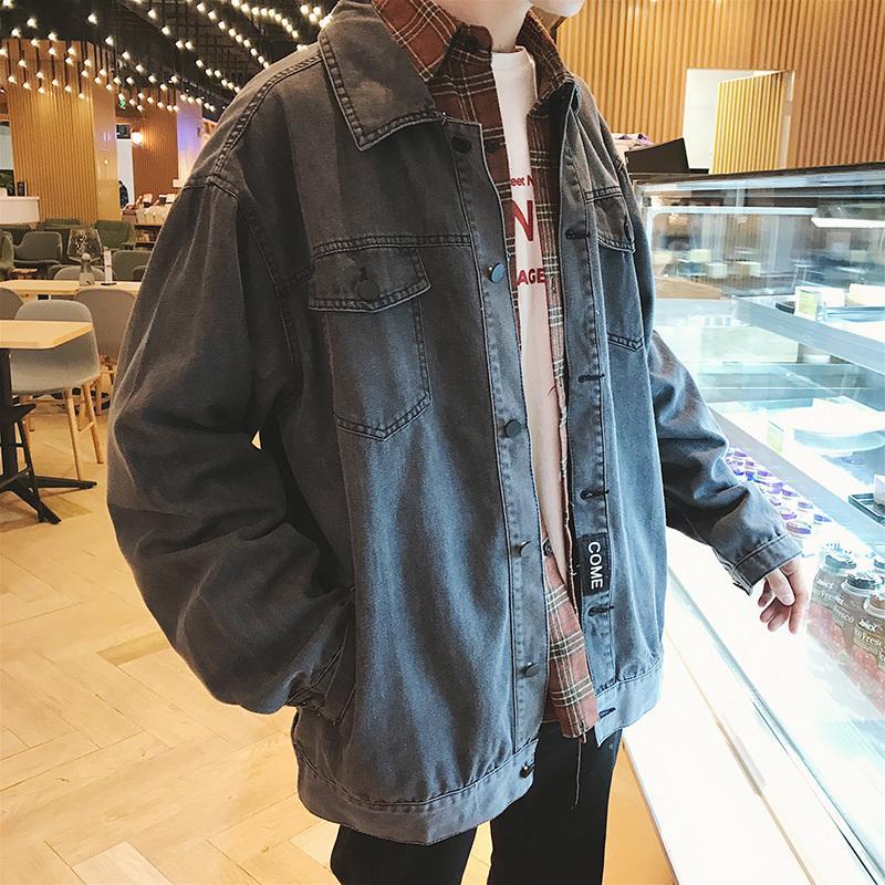 2018 New Stamped Printed Denim Men S Jacket Personalized Zipper