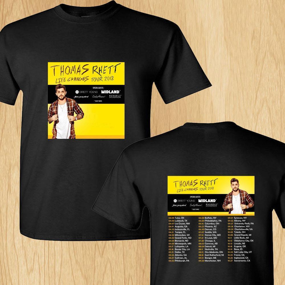 Thomas Rhett Losing Sleep north american tour 2018 black tee shirt S-3XL