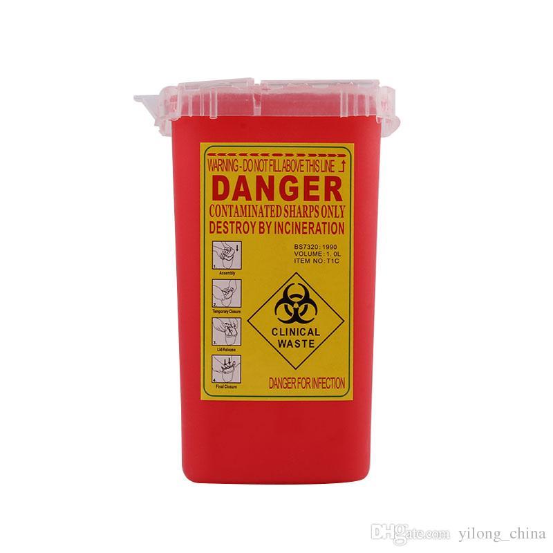 YILONG Professionelle Kunststoff Sharps Container Für Tätowierer Neueste Tattoo Sharps Container Biohazard Nadel Einweg Freies Verschiffen