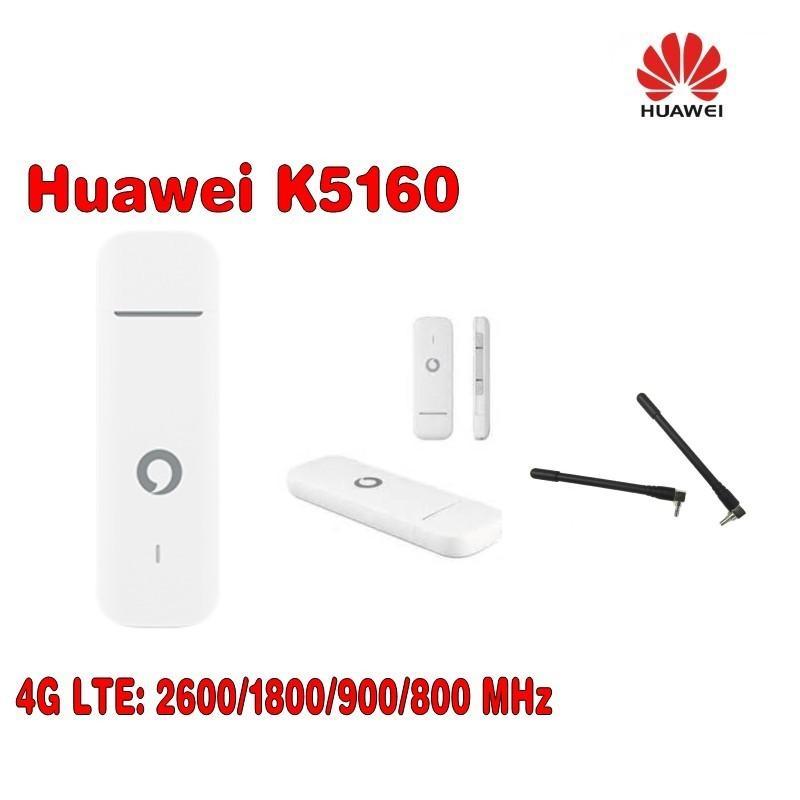 Vodafone K5160 HUAWEI 4G usb dongle 150Mbps Unlocked 4G MODEM Plus 2pcs  antenna