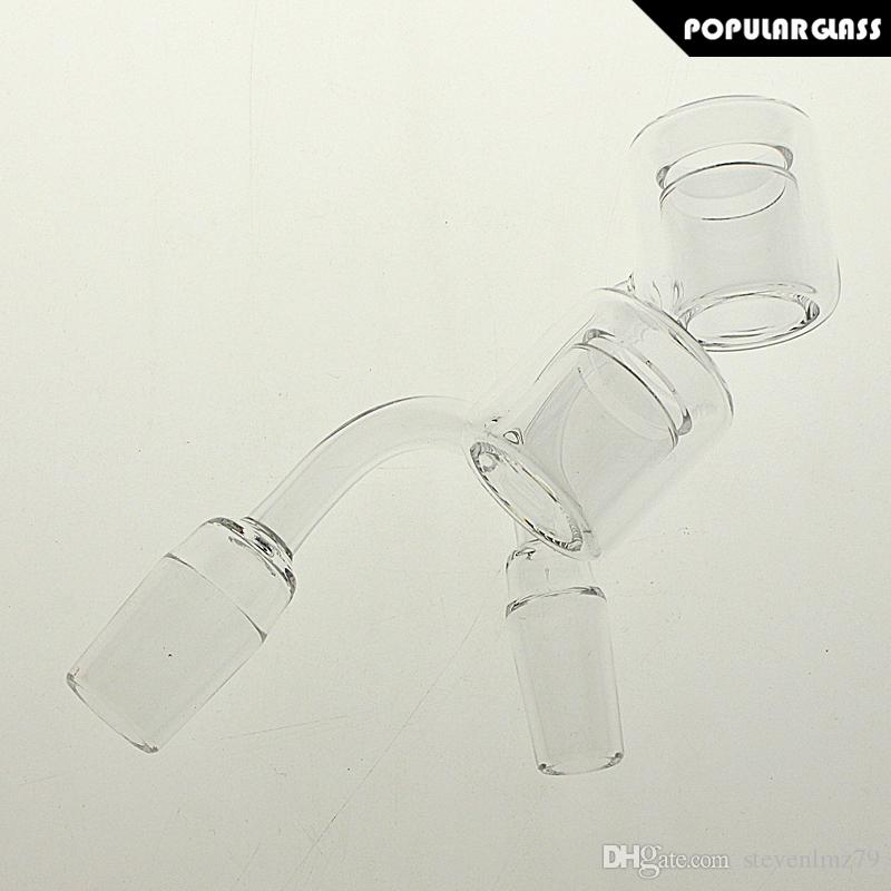 SAML 25mm Double Walls Quartz Thermal Banger Smoking Accessories Nail Male Joint Size 14mm and 18mm 90 degrees PG5149