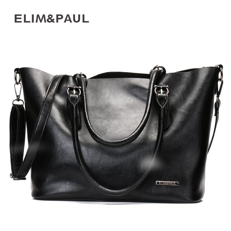 9ea6a6a36c8f ELIM Amp PAUL Shoulder Bags Women Hobos Zipper PU Leather Bag Female  Crossbody Bag Woman Handbags Sac A Main Bolsas Femininas Designer Handbags  On Sale ...