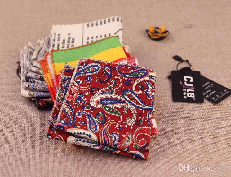 Beautiful Men's Suits Handkerchiefs Cotton Pocket Square Hankies Men's Business Casual Square Pockets Hanky Handkerchief Fashion Accessories