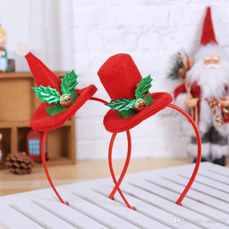 Christmas Headband Craft.Adult Kids Cap Design Bell Christmas Headband Xmas Headwear Party Hairband For Chritmas Decoration Kids Gifts New Year Supplies Free Ship