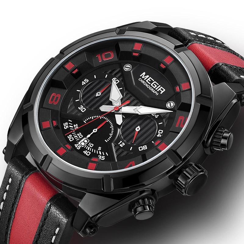 4b99f66caaac Compre Reloj De Pulsera Para Hombre Megir Watches Reloj De Pulsera Para  Hombre De Lujo Reloj Cronógrafo De Cuarzo Reloj Deportivo Para Hombre A   40.22 Del ...