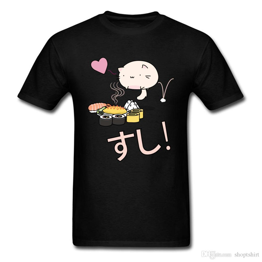 298b35e7b7 Cute Graphic Funny Cartoon Print T Shirts Men Japanese Sushi Cake Food  Casual Fashion Summer Tops Tees On Sale Wholesale College T Shirt Buy Funny  T Shirts ...