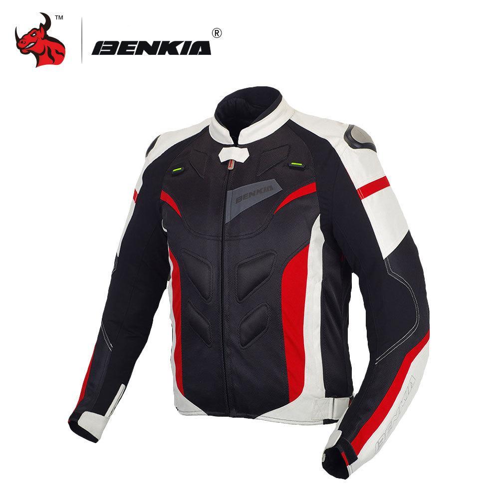 375bf44fa8 Compre Benkia Homens Jaqueta Da Motocicleta Roupas De Proteção Da ...