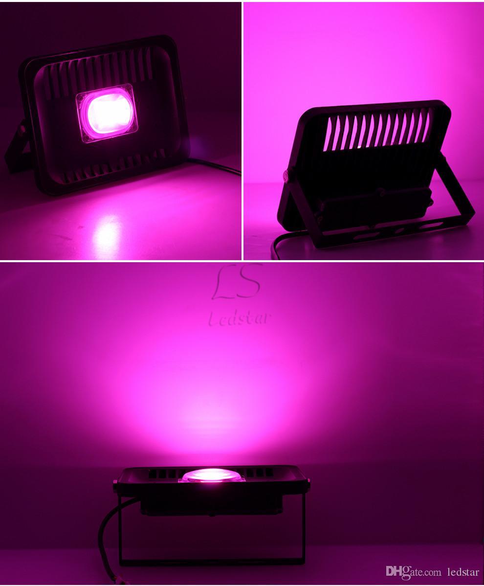 전체 스펙트럼 100W 50W 30W 20W 스마트 IC 칩 LED 조명 빛 수경 법 및 실내 / 야외 식물 투광 조명 온실