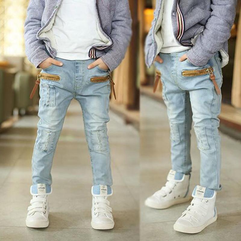 2018 Brand Jeans Boys Jeans Kids Trousers Fashion Children Boys Jeans Kids Fashion Denim Pants Baby Casual Pants Infant 2-14Yrs