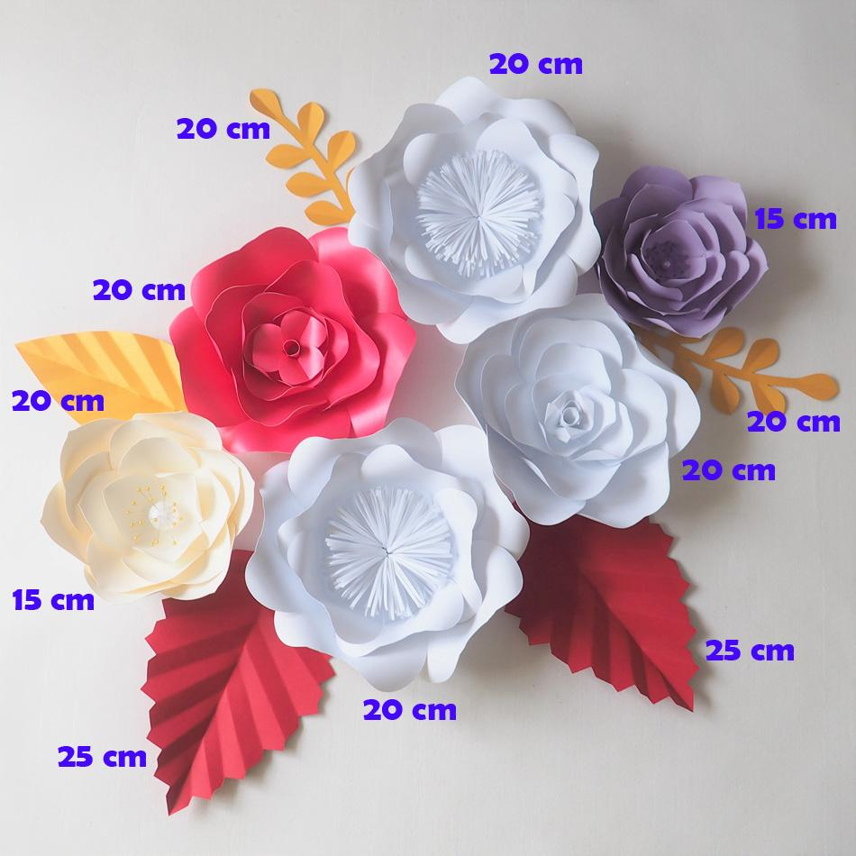 2019 Diy Giant Paper Flowers Backdrop Flores Artificiales Artificial