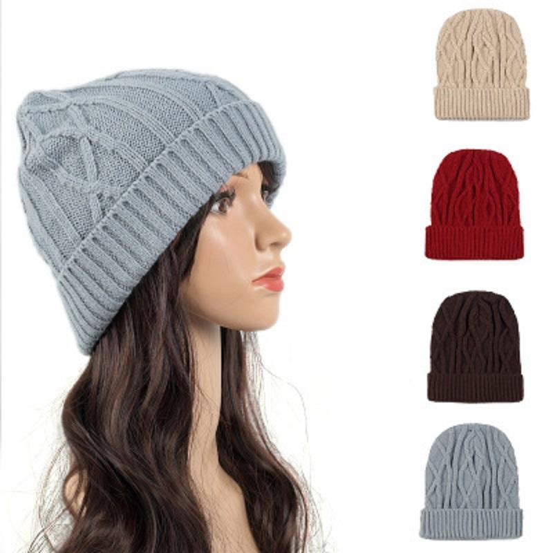 57aa1326bccb4 Knitted Wool Beanies Hat Outdoor Sport Hats Keep Warm Ear Protection Winter  Curling Cap Crochet Beanies Cap For Women Lady Girls Hoodies Beanies From  ...