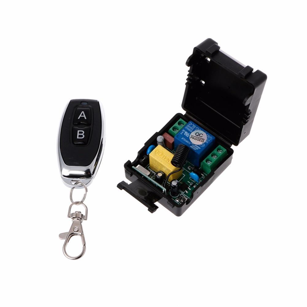 AC 220V 10A 1CH RF 433MHz Wireless Remote Control Switch Receiver Module  Transmitter Kit For Intelligent Home