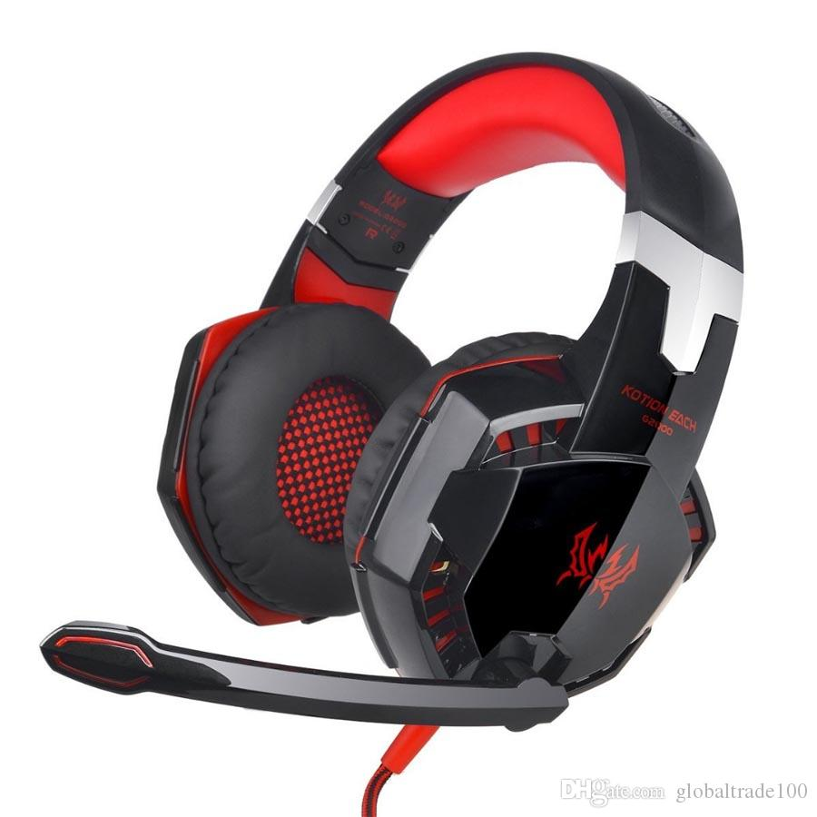 G2000 3.5mm Gaming Headset Gaming Headset Fone de Ouvido Estéreo Gaming Headphone Gaming Headphone Com Microfone Led Para Computar LOL