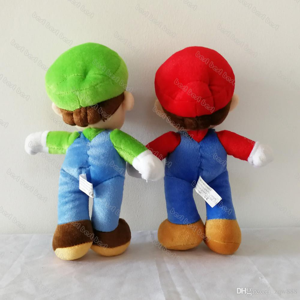 """9"""" 23cm Super Mario Bros Mario and Luigi Plush Dolls Stuffed Toy Animals For Baby Gifts zqw-a"""