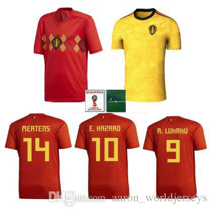 123d95dfb New Green Patches World Cup 2018 Thai Quality Belgium Soccer Jerseys ...