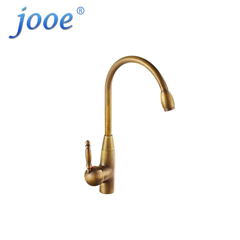 2018 Jooe Kitchen Faucet Gold Antique Brass Brushed 360 Degrees