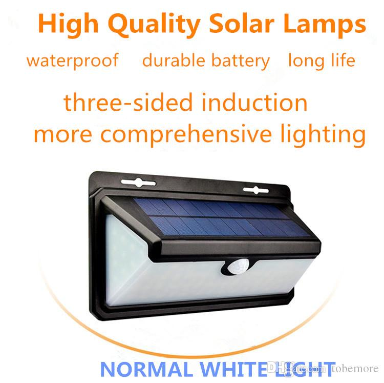 LED normal white wall light three sided lighting human infrared solar lamps