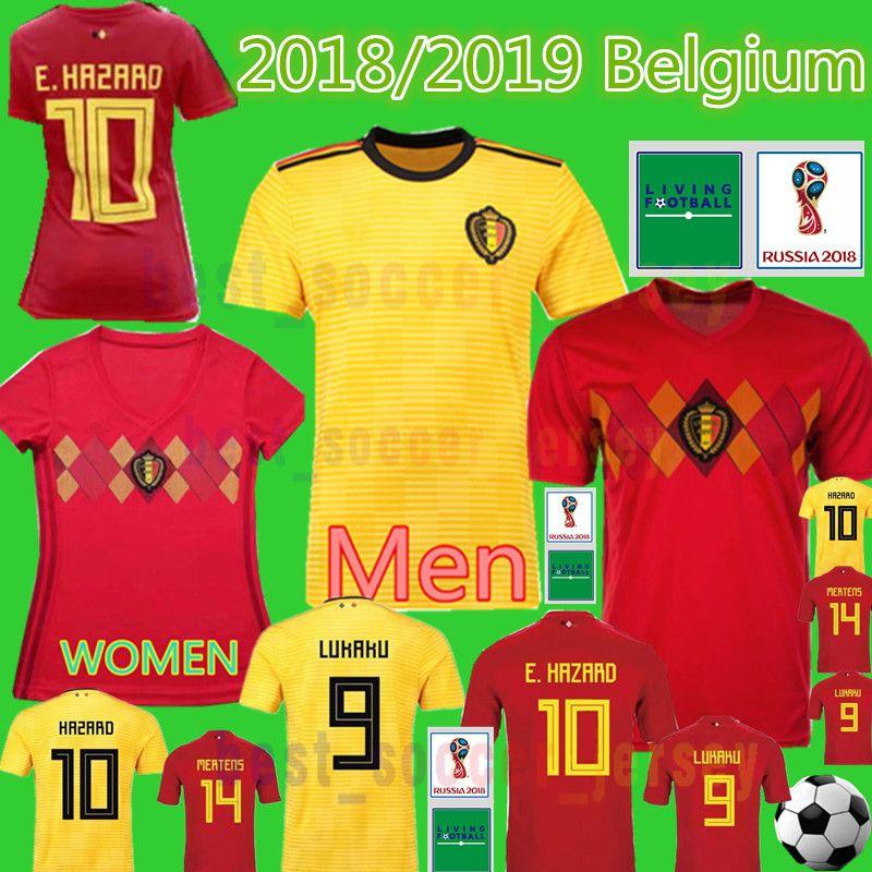 Belgium 2018 World Cup Soccer Jersey 2019 Belgium DE BRUYNE E.HAZARD ... ebb5fad7b