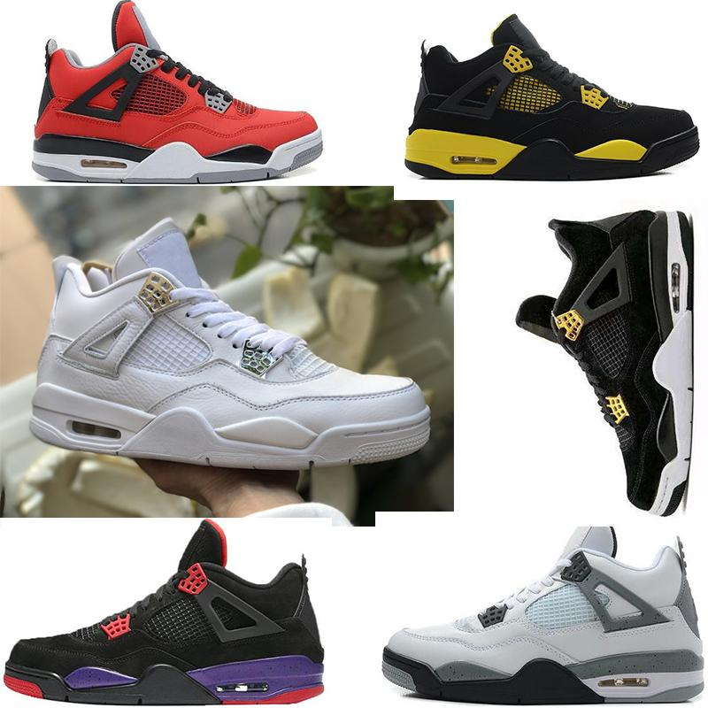 f1e98416e38f 2019 Mens Basketball Shoes 4s Designer Trainers Pure Money Sneakers 4 Fire  Red NRG Raptors Motorsport Mens Sneakers CAVS Oreo Brand Sport Shoes From  ...