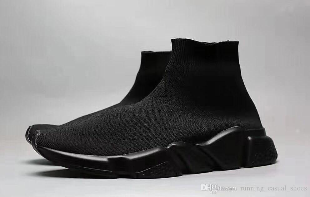 Socke Schuhe Luxus Speed Trainer Herren Schuhe Designer Sneakers Stiefel Socken Race Läufer Schwarz Weiß Damen Outdoor Sport Schuhe Casual Billig
