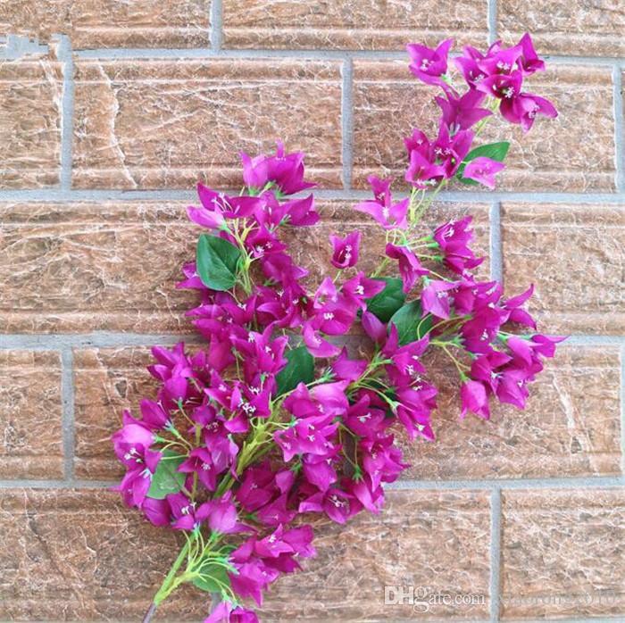 Шелковый бугенвиллия Поддельный бугенвиллия spectabilis more Цветочные головки для свадебных центральных украшений Home Party Искусственный декоративный цветок