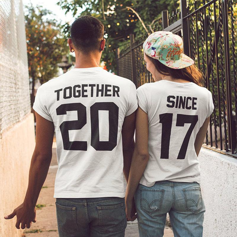 ac8acefef Compre EnjoytheSpirit Casal Camisas Juntos Desde Matching Set Tees Para  Casais Camisetas Roupas Presente Dos Namorados Presente Verão Moda De  Lookpack