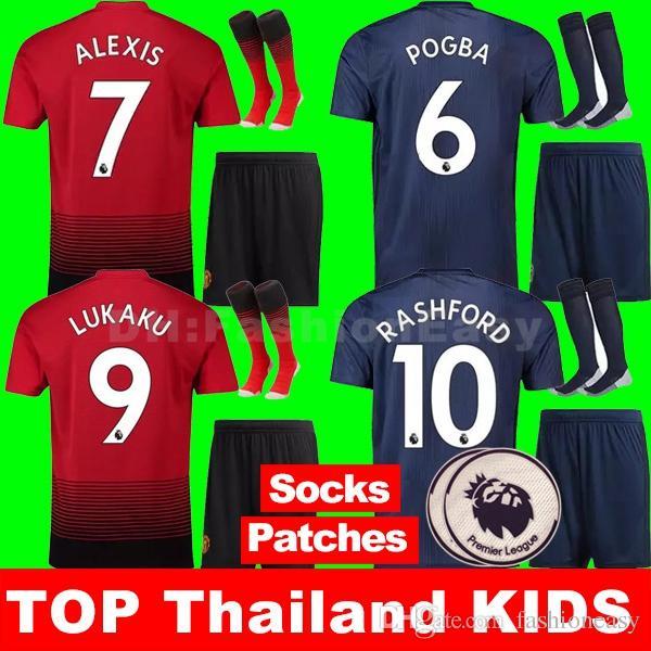 74d240d949e TOP Thailand Alexis Sanchez POGBA Soccer Jersey 2018 2019 LUKAKU ...