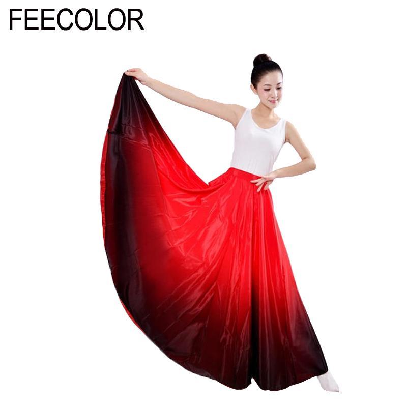 d81e43056f Compre Falda De Baile Flamenco De FEECOLOR Disfraz De Danza Española Para  Mujer Vestido Flamenco 360 Degree TF001 A  43.71 Del Begonier