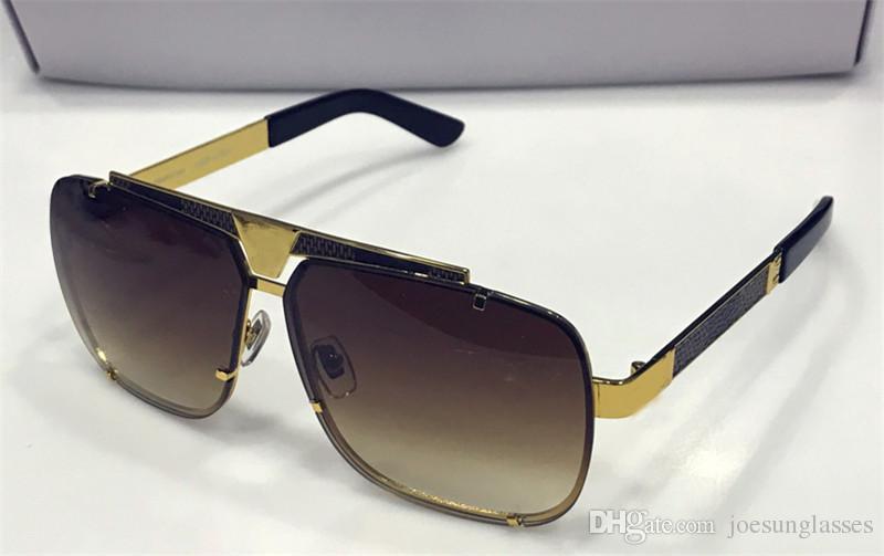 49f9025f79 Vintage Designer Sunglasses Classic Square Metal Frameless Top ...