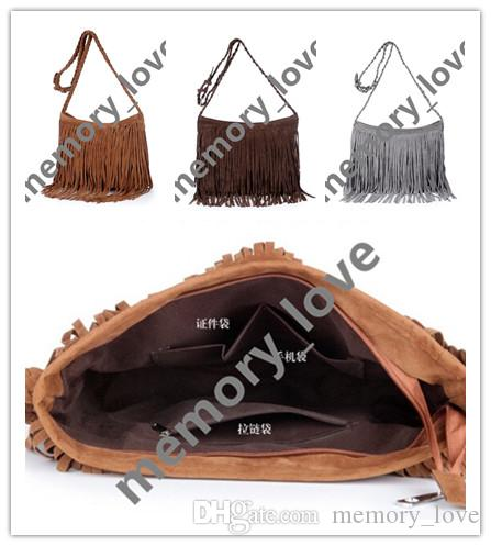 bad01520e9 Women Tassel Crossbody Retro Suede Leather Fold Tassel Ladies Clutch Purse  Faux Suede Crossbody Fringe Purse DHL Patricia Nash Handbags Womens Bags  From ...