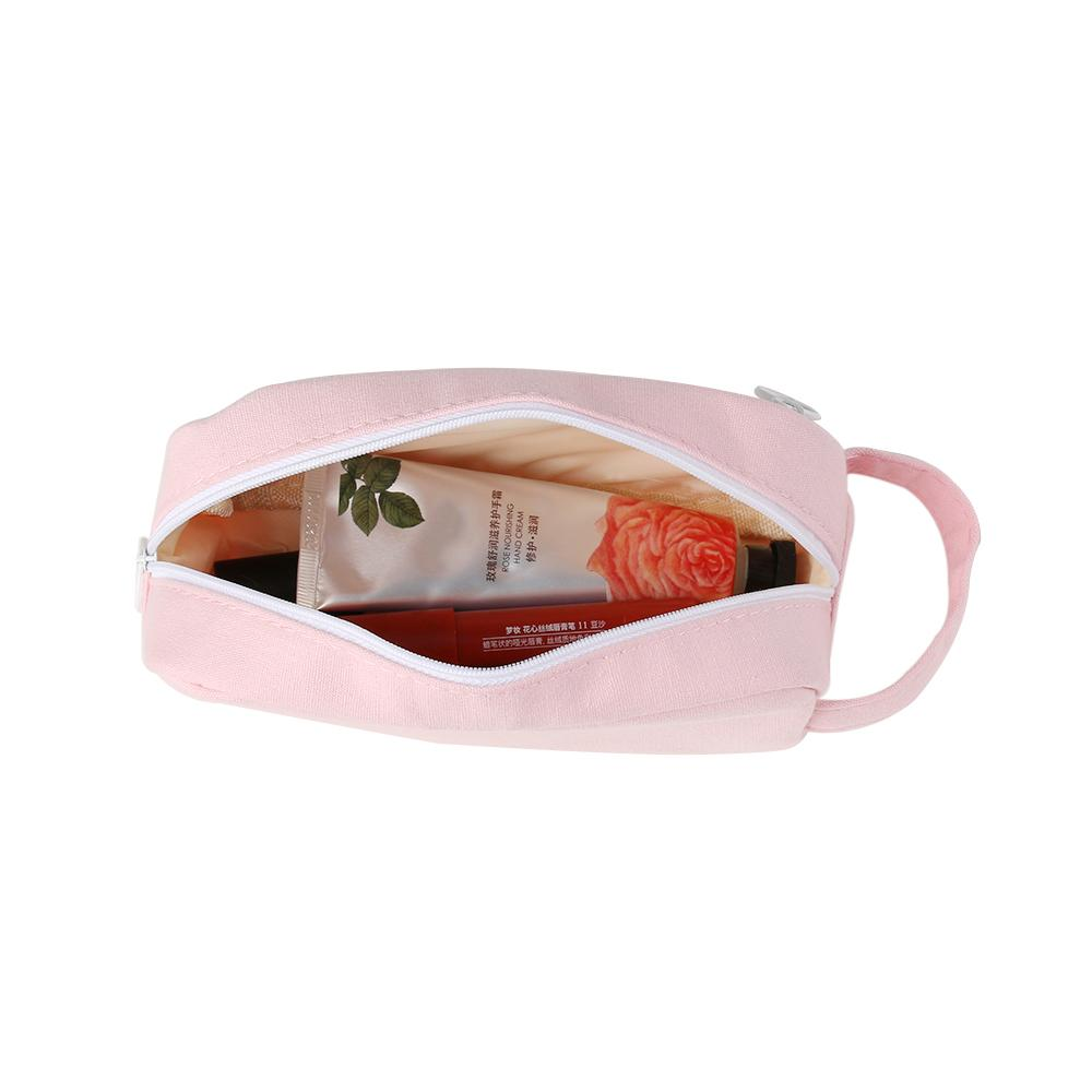 Высокое качество большой емкости Kawaii сетки розовый мешок холст пенал канцлеры школа канцелярские принадлежности студентов косметичка