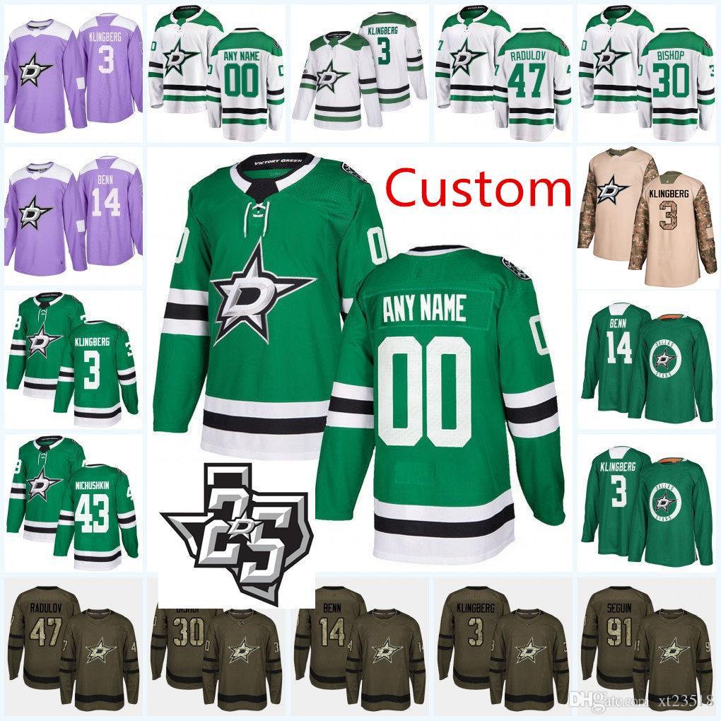 pretty nice 65cf9 c38e8 dallas stars custom jersey