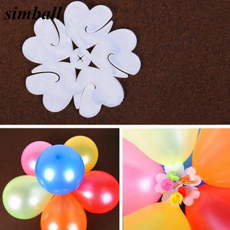 vent Party Ballons Accessories 10PCS 6.5cm Useful Flower Shape Balloons Sealing Clip Ballon Buttons Clips Wedding Birthday Christmas Part...