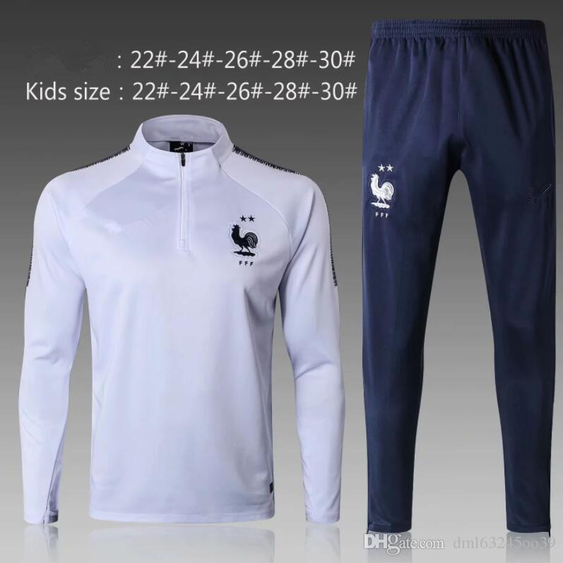 c8997398 2019 2star 2018 FR SOCCER Jacket Kids Tracksuits POGBA CHILD SWEATER Soccer  Chandal Football Tracksuit Adult Training Suit Skinny Pants Sports From ...